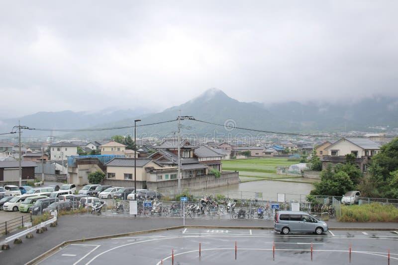 在桥本福冈的城市视图 图库摄影