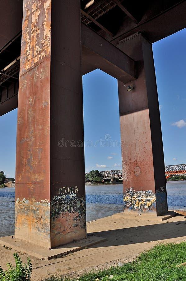 在桥梁下 库存图片