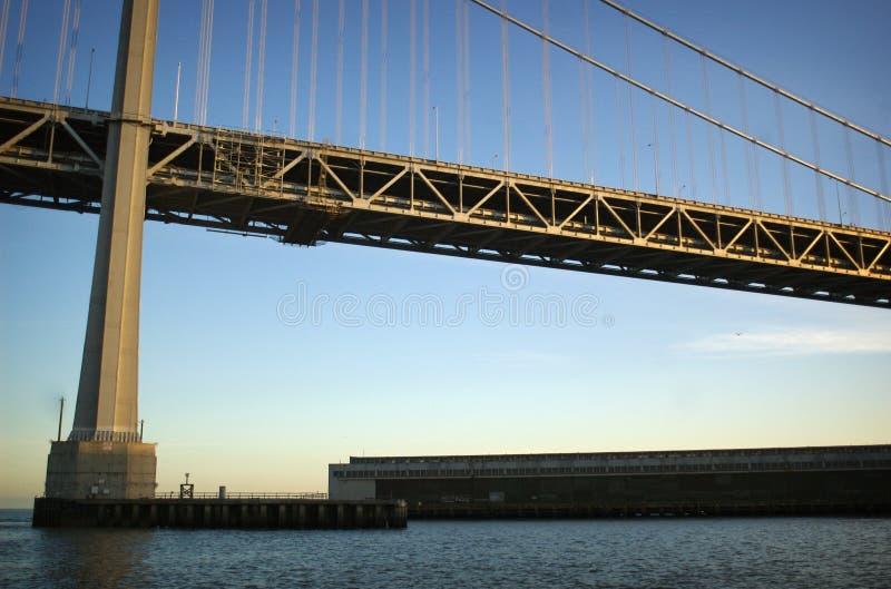 在桥梁之下 免版税库存照片