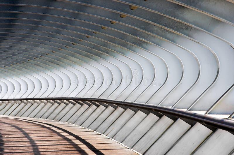 在桥梁的曲线形状 免版税库存图片