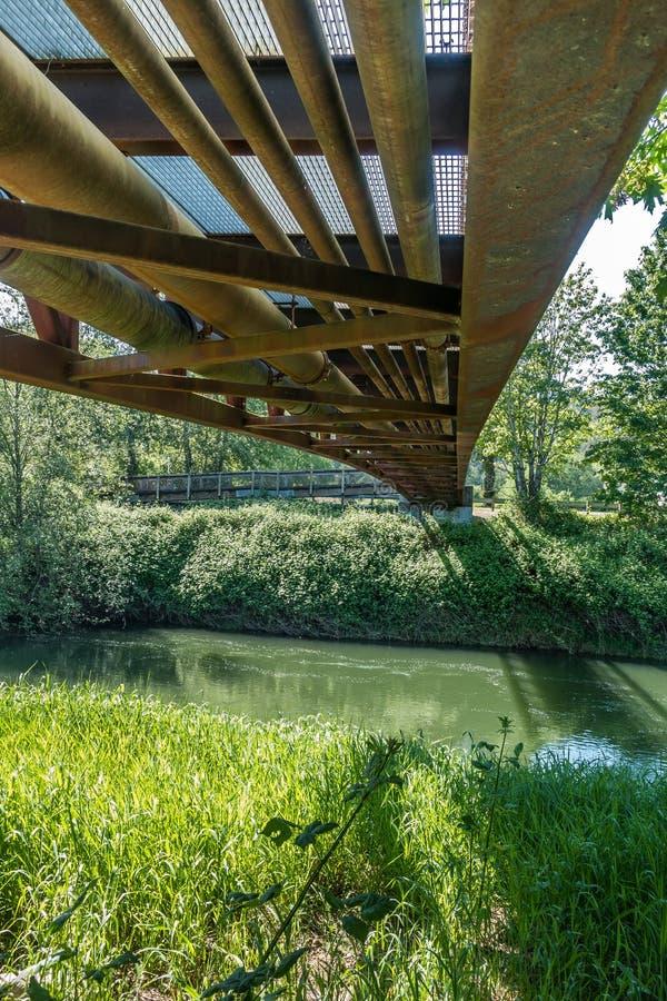 在桥梁4下 免版税库存照片