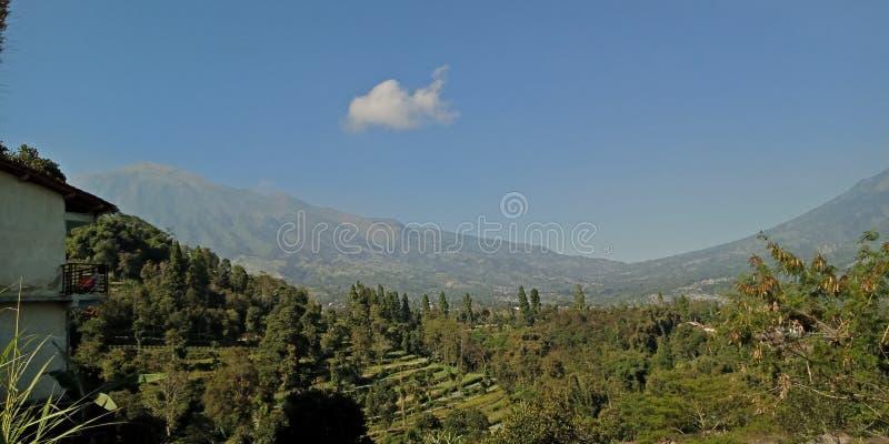 在梅拉皮山和梅尔巴布山脚下的会合中,拍摄自然财富的美貌与它的辉煌 免版税图库摄影