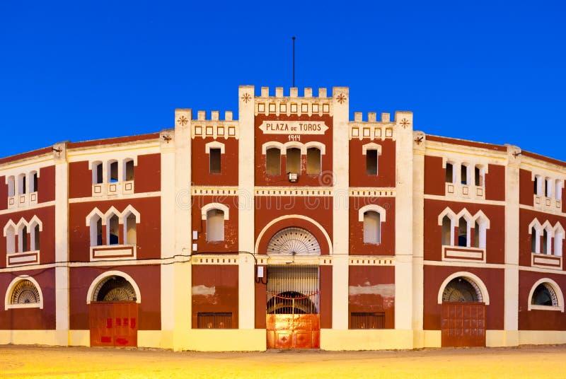 在梅里达西班牙,前门盖斗牛场 免版税库存图片