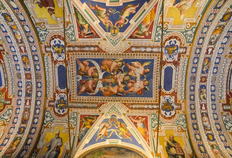 在梵蒂冈博物馆里面 库存照片