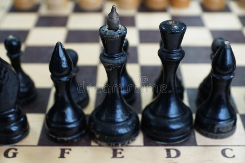 在棋枰下棋比赛的片断 免版税库存照片