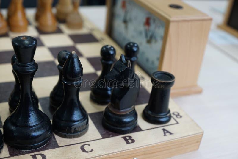在棋枰下棋比赛的片断 免版税库存图片