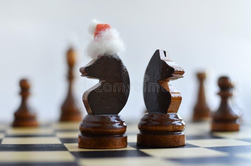 在棋枰的新年 图库摄影