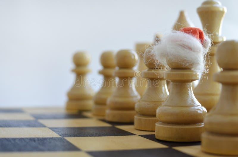 在棋枰的新年 免版税库存照片