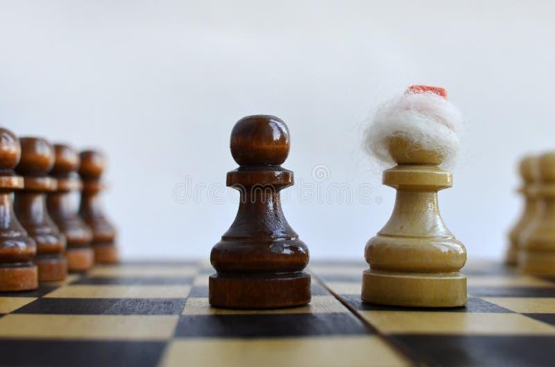 在棋枰的新年 库存照片