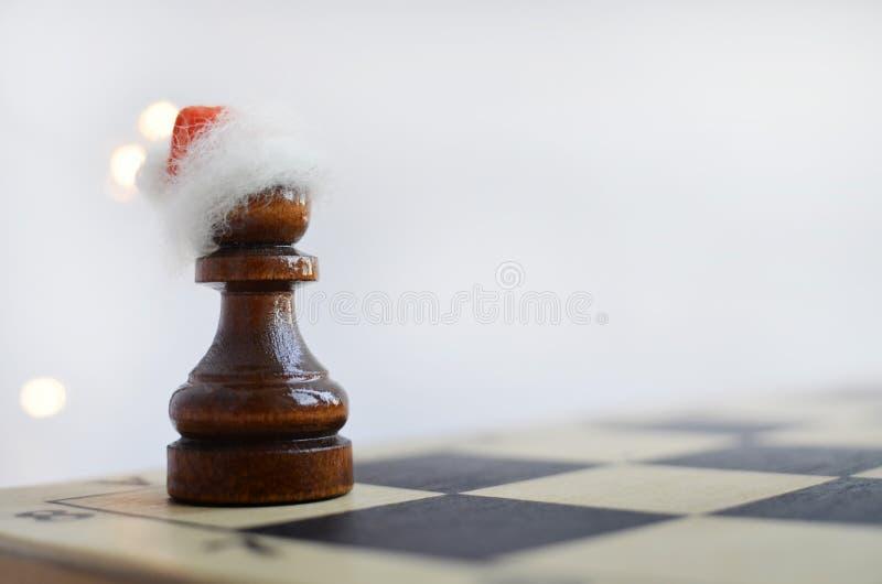 在棋枰的新年 库存图片
