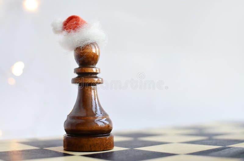 在棋枰的新年 免版税库存图片
