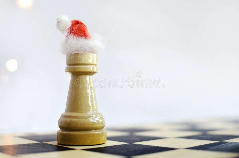 在棋枰的新年 免版税图库摄影