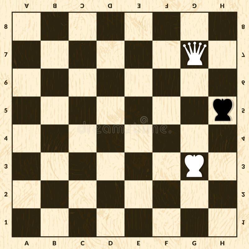 在棋的对峙状态情况 库存例证