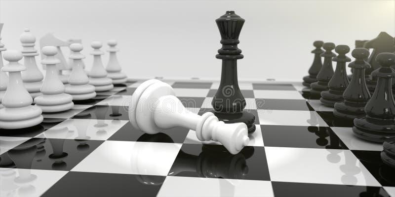 在棋盘的棋 皇族释放例证