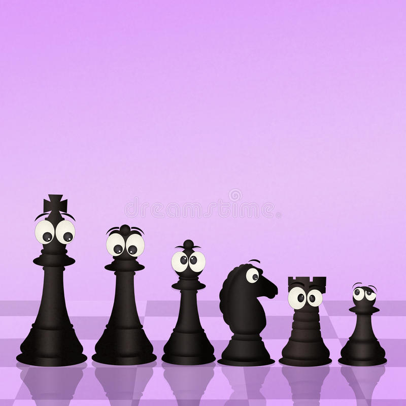 在棋盘的棋 向量例证