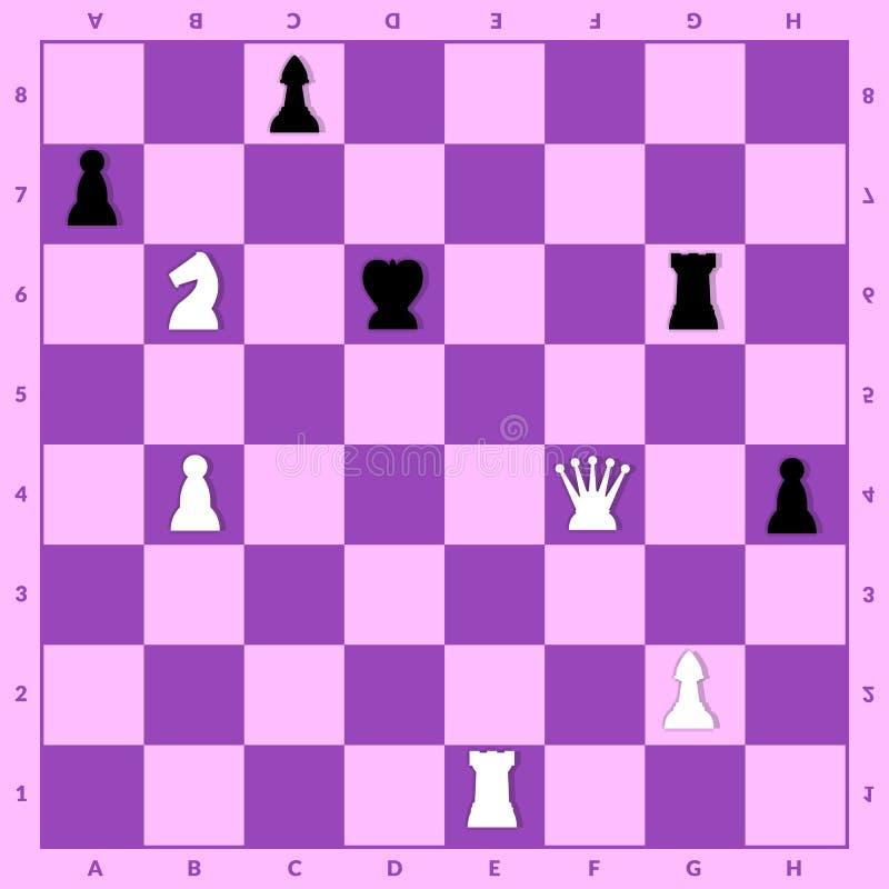 在棋设定的对峙状态 向量例证