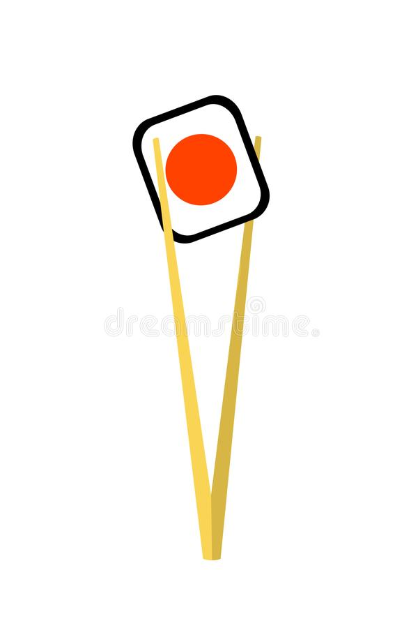 在棍子的寿司 查出 库存例证