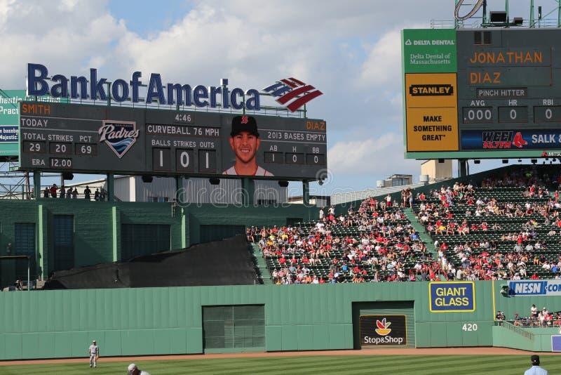 在棒的乔纳森首先戴兹在MLB作为波士顿红袜 免版税库存图片