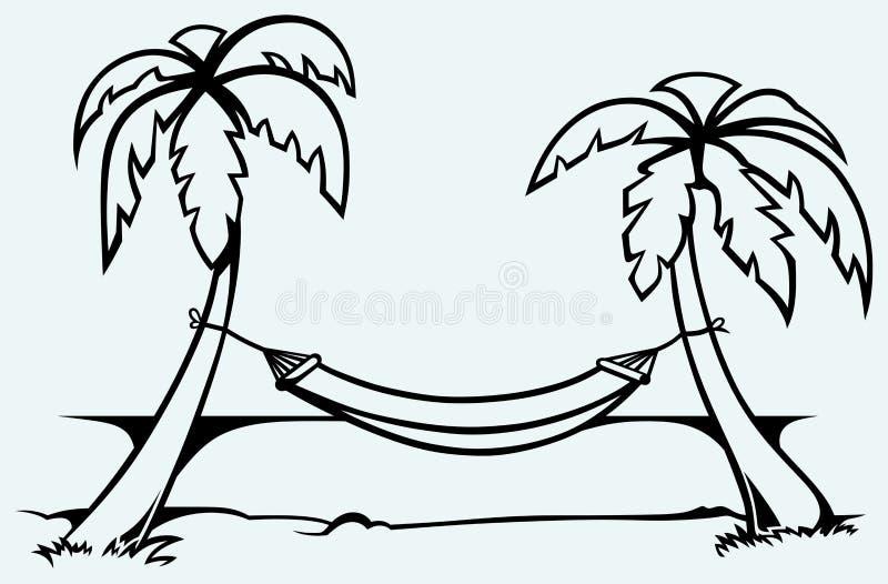 在棕榈树之间的浪漫吊床图片