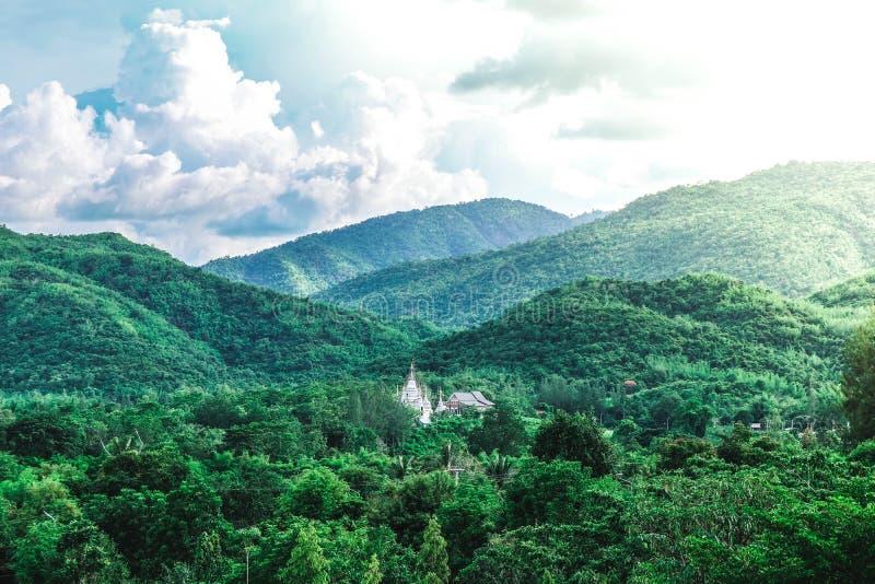 在森林中间的寺庙 免版税库存照片