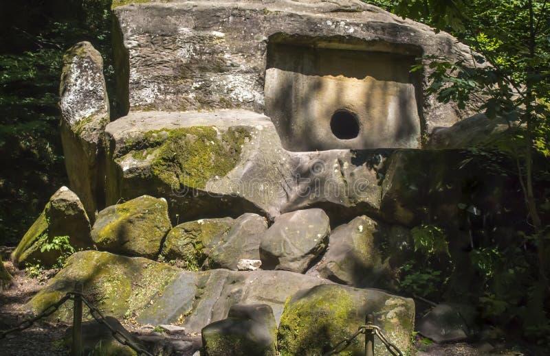 在森林神奇都尔门的都尔门 库存照片