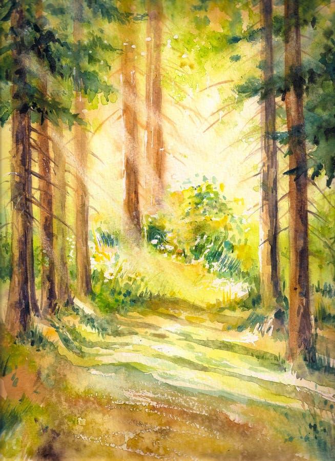 在森林里 库存例证
