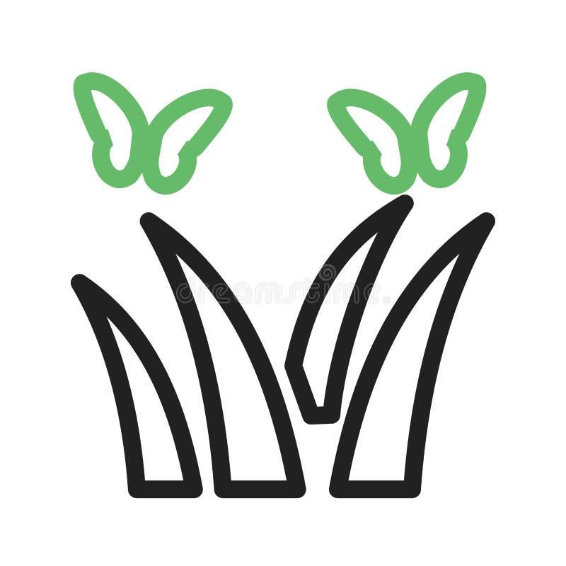在植物的蝴蝶 向量例证