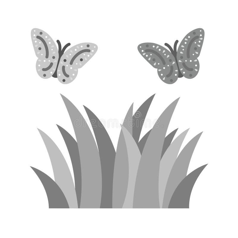 在植物的蝴蝶 皇族释放例证