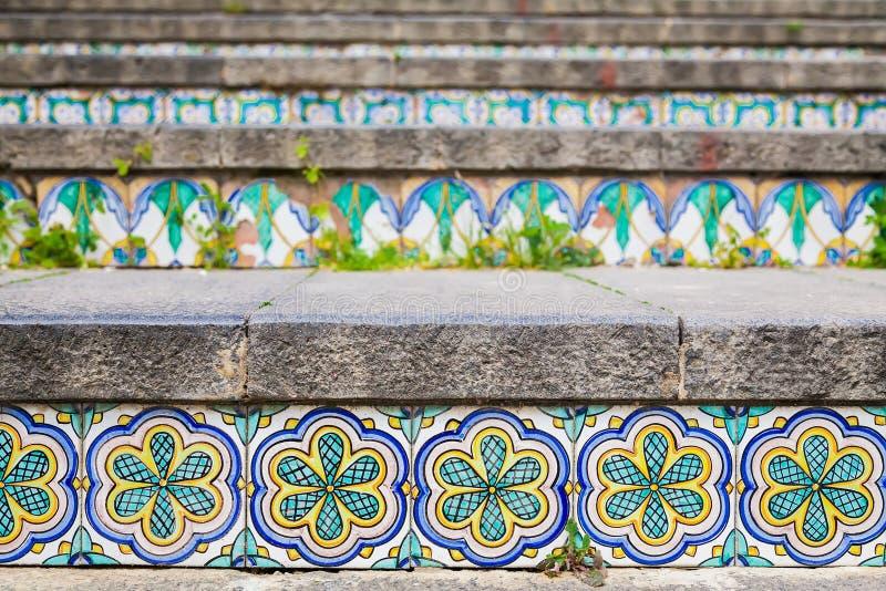 在楼梯的陶瓷砖 库存图片