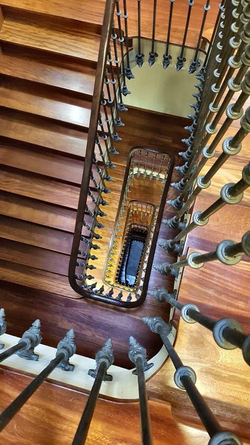 在楼梯间上的看法在毕尔巴鄂 库存照片