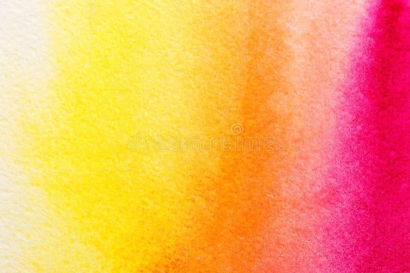 在概略的纸纹理的手画抽象多彩多姿的水彩洗涤背景 库存例证