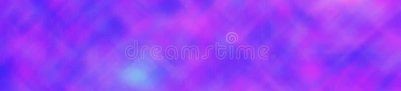 在横幅形状背景例证的紫色和蓝色明亮的通过微小的玻璃 免版税库存照片