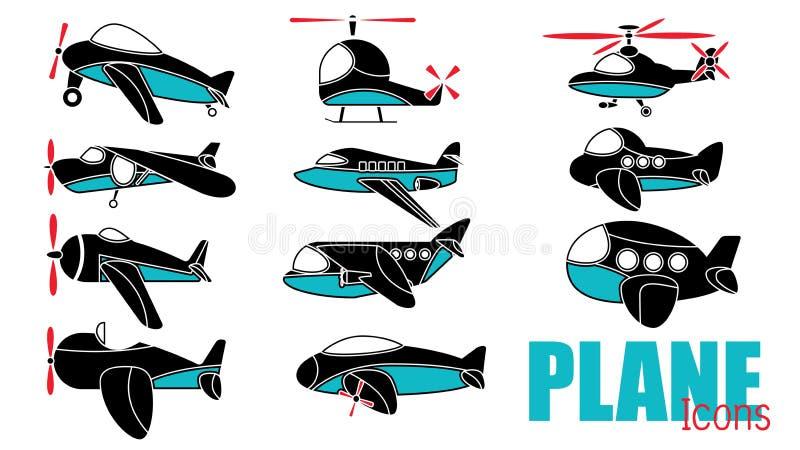 在横幅的逗人喜爱的飞机 向量例证