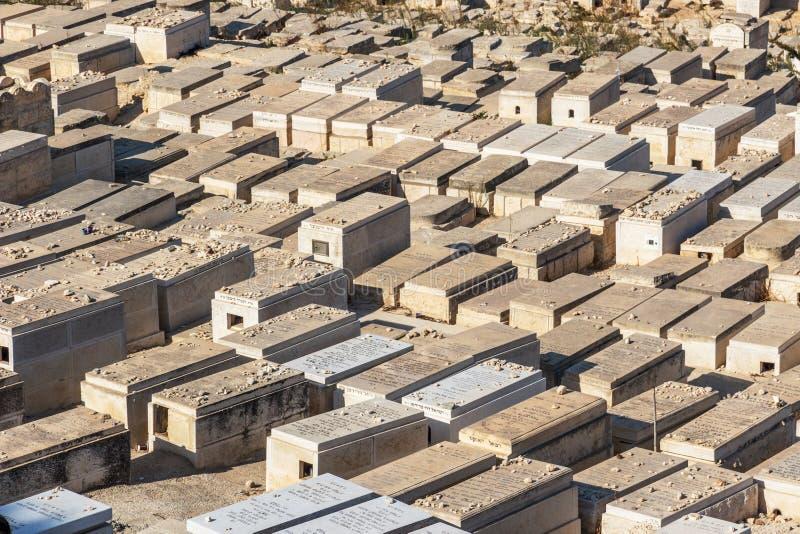 在橄榄山,耶路撒冷的坟墓 免版税库存照片