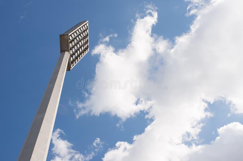 在橄榄球场的反射器 免版税库存图片