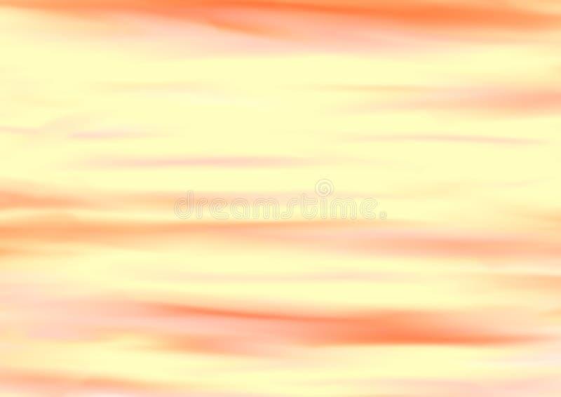在橙色和黄色口气的五颜六色的被弄脏的抽象背景 库存例证