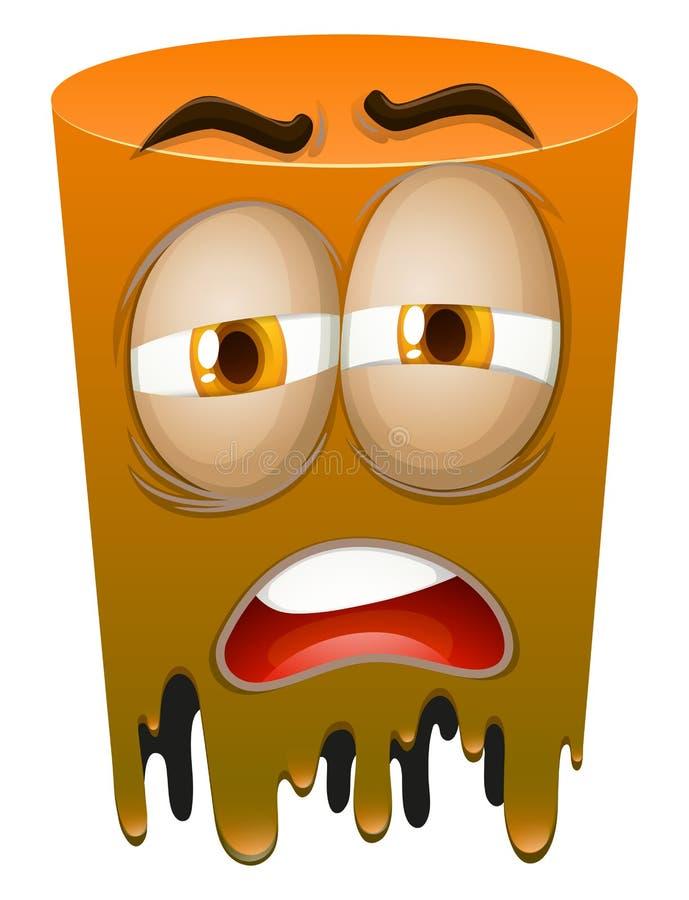 Download 在橙色管的哀伤的面孔 向量例证. 插画 包括有 姿态, 颜色, 对象, 橙色, 眼睛, 图画, 图象, 查出 - 59107976