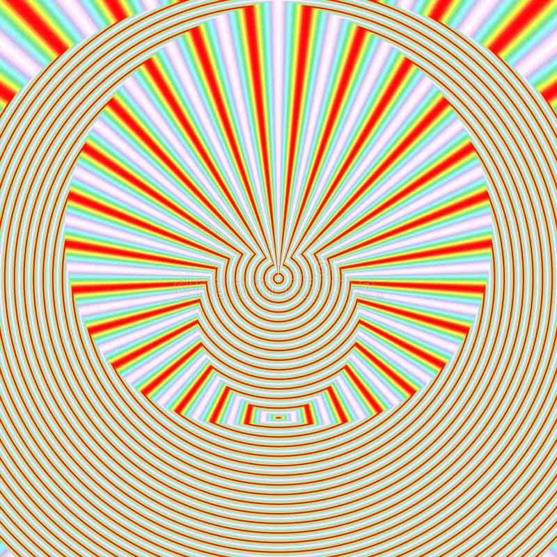 在橙色颜色的几何抽象backgound 向量例证