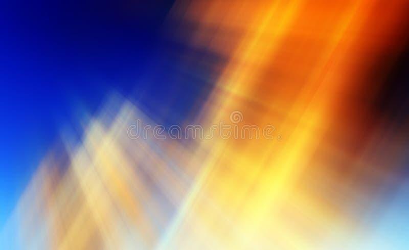 在橙色,蓝色和黄色的抽象背景 向量例证