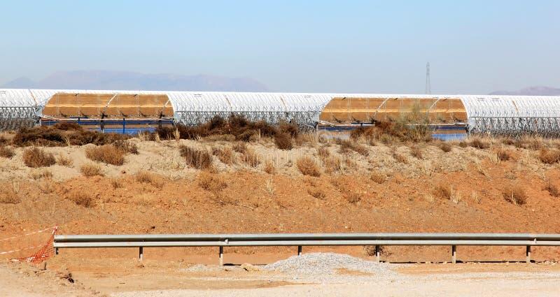 在次幂太阳西班牙岗位上升暖流附近的guadix 免版税库存照片