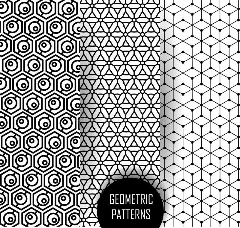 在欧普艺术设计的几何样式 黑白艺术 向量例证