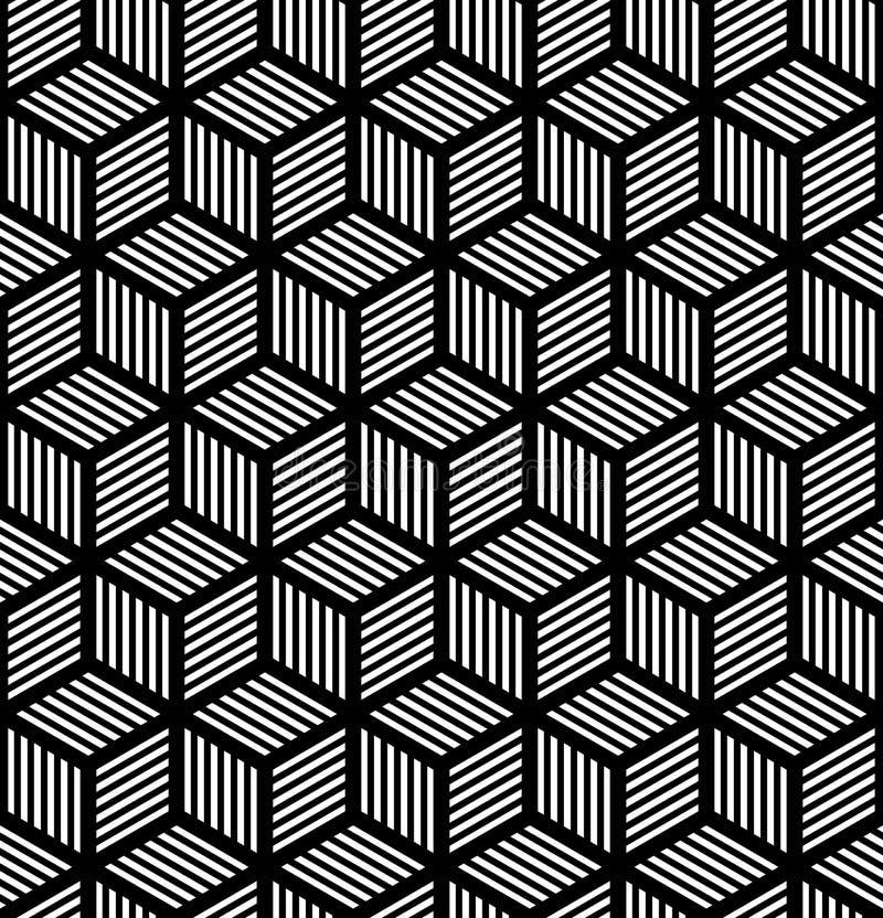 在欧普艺术设计的无缝的几何纹理。 皇族释放例证