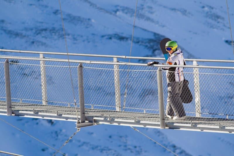在欧洲阿尔卑斯的Extreeme体育运动 免版税图库摄影