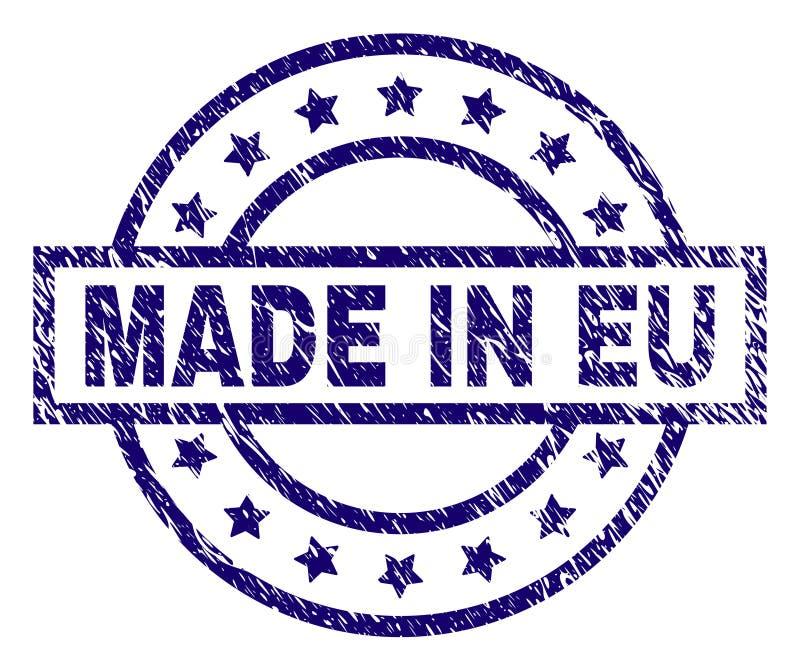 在欧盟邮票封印做的被抓的织地不很细 皇族释放例证