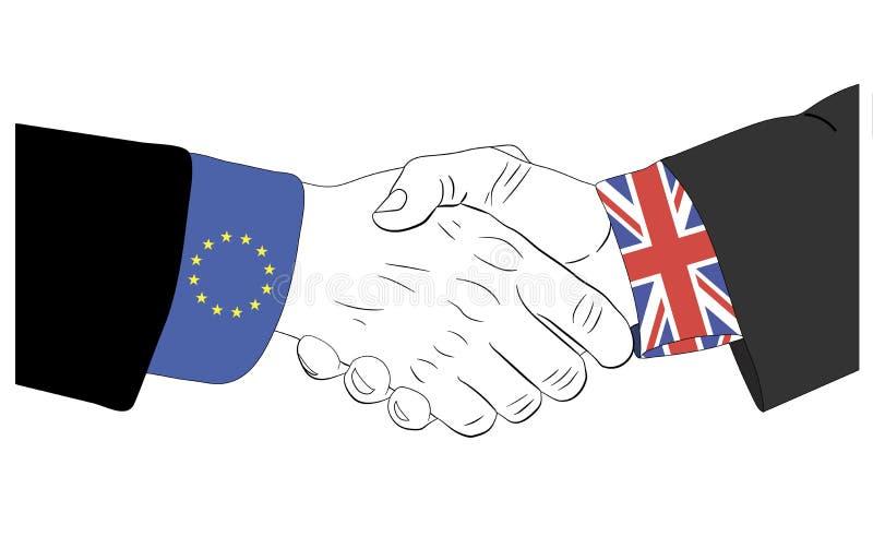 在欧洲联合和英国之间的友谊 库存图片