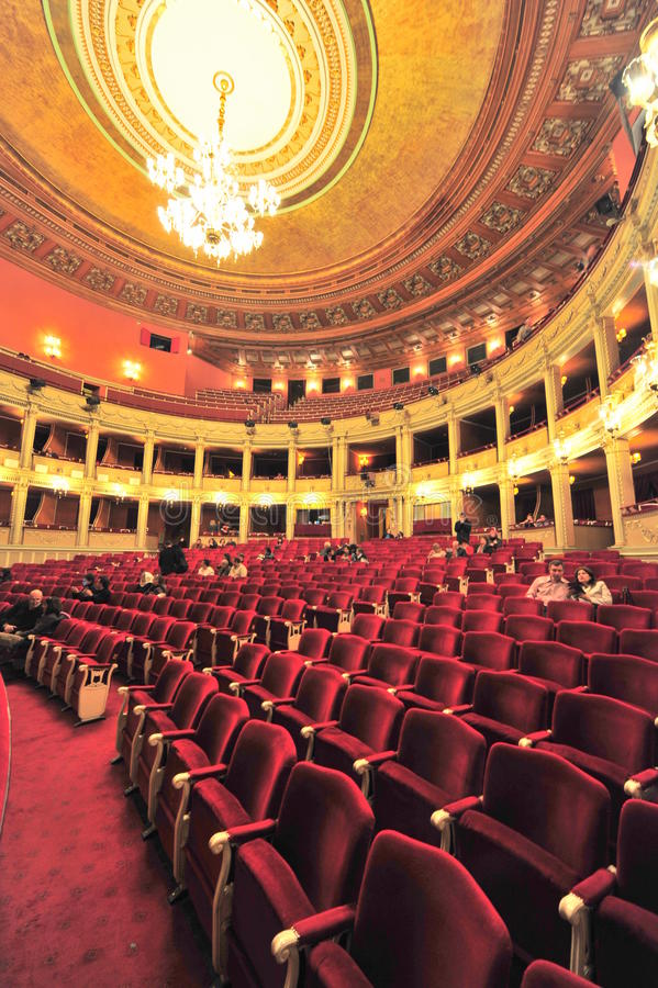 在歌剧院的内部结构 免版税库存图片