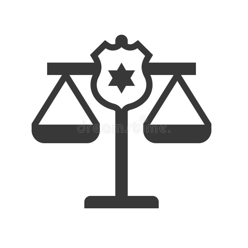 在正义等级,法律相关象的警察盾 皇族释放例证
