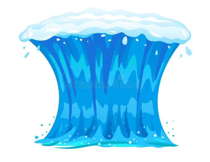 在正面图的海浪被隔绝的 向量例证