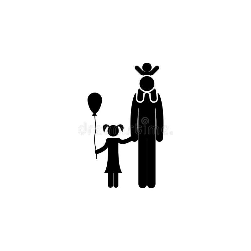 在步行象的家庭 旅行象的元素流动概念和网apps的 在步行象的稀薄的线家庭可以为网使用和 库存例证