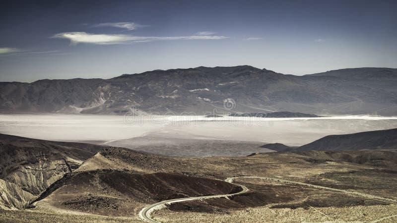 在死亡谷国家公园的大开远景 图库摄影